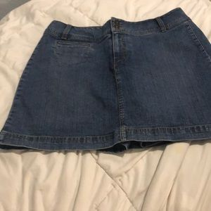 Medium blue jean skirt with shorts